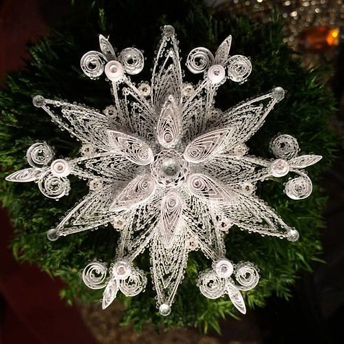 Quilled Snowflake with Microbeads
