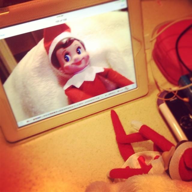 Seems like our elf caught Maya's #selfie bug! #ElfontheShelf