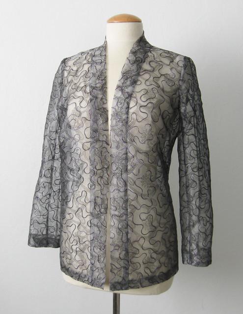 Silk jacket front