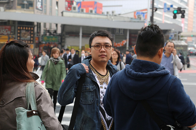 Candid shot at Shinjuku crossing