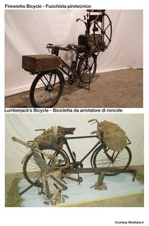 Cargo Bike History: The Fireworks Bicycle & The Lumberjack's Bicycle