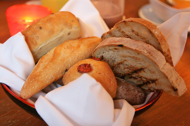 Bread basket - so delicious, we wanted more!