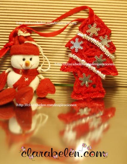 Arbolito de Navidad hecho con lana