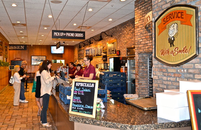 TooJays Gourmet Deli, Florida - pick up area and check out