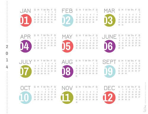 2014 RS Dots Calendar