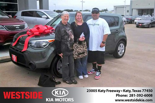 Thank you to Geraldine  Jones on your new 2014 #Kia #Soul from Gil Guzman and everyone at Westside Kia! #LoveMyNewCar by Westside KIA