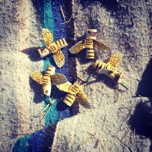 Bees on a blanket.