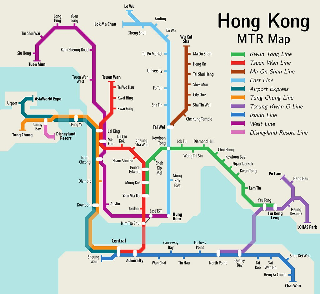 Hong Kong Mtr Map I Ve Adapted The Future Map Into A Map O Flickr