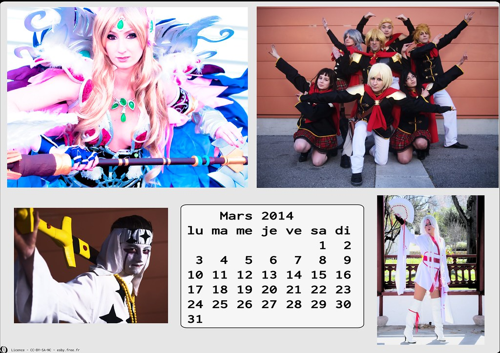 related image - Calendrier Cosplay 2014-03 - Mars