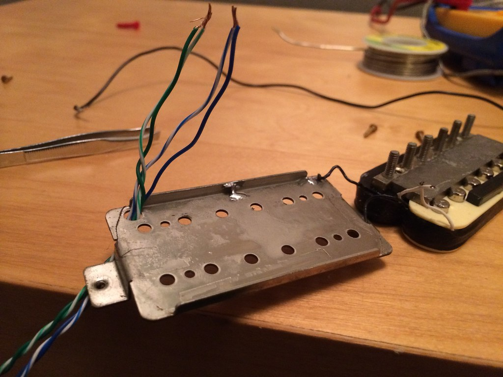 how to convert 2 conductor humbuckers to 4 conductor