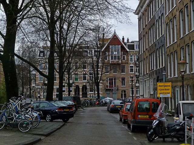 Picture of a neighborhood with residential buildings, Amsterdam city photo in 2013