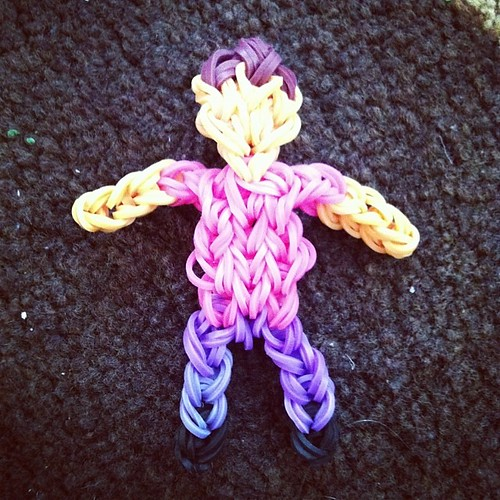 Me as a #rainbowloom action figure