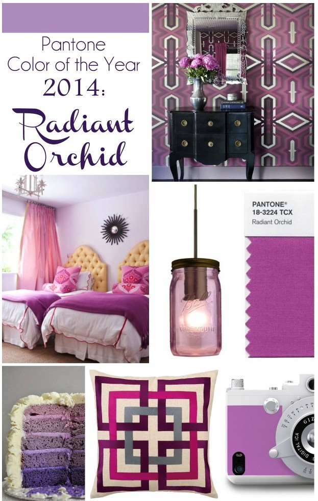 Radiant Orchid Decor on Living After Midnite