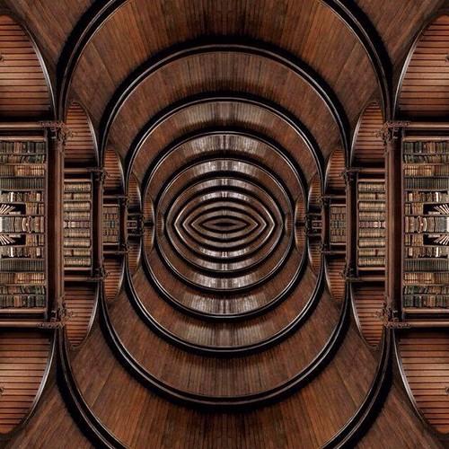Infinite Library #mirrorgram edit of #StPaulsLibrary #infinite #library #books #reading #booksforever