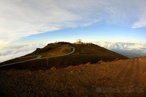 Estrada da cratera do Haleakala
