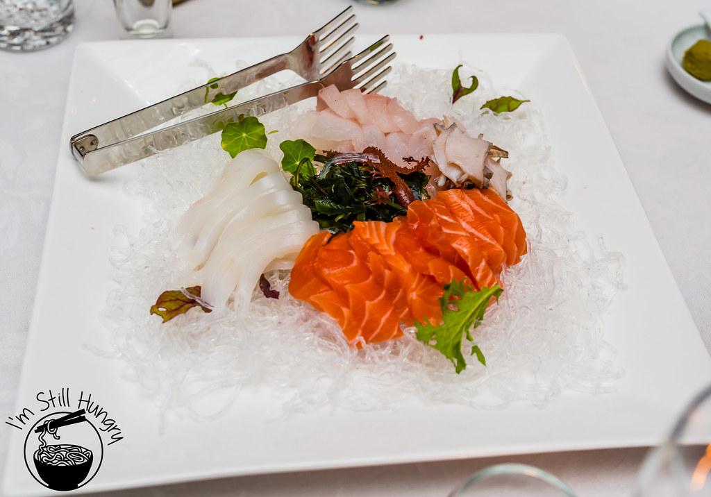 Seasonal Hwae - korean style sashimi korean banquet showcase