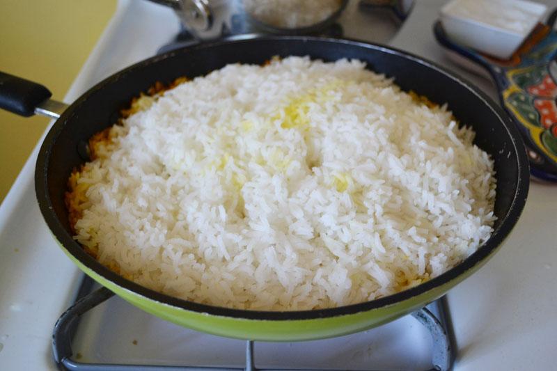Tah-Dig (Persian Rice) via LittleFerraroKitchen.com