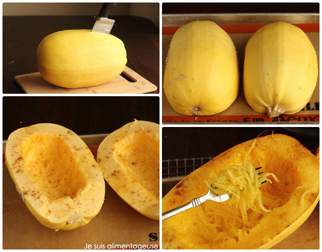 How To Roast Spaghetti Squash - super easy, and surprisingly filling! Use it just like pasta, except its a veggie!! #vegan #glutenfree