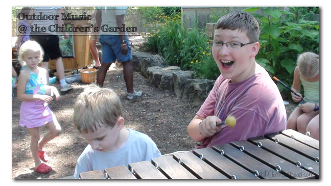music at the children's garden in the missouri botanical garden