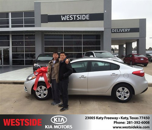 Thank you to William  Santo Mã­O on your new 2014 #Kia #Forte from Orlando Baez and everyone at Westside Kia! by Westside KIA