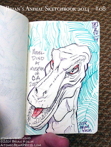 02-17-2014 #dailydrawing #animals GRRRRRRR...I'm a dino