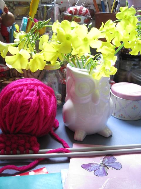 flores en el taller