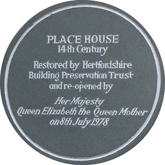 Photo of Elizabeth Bowes-Lyon (The Queen Mother) grey plaque