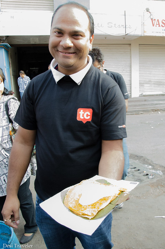 man with dosa at govind bandi