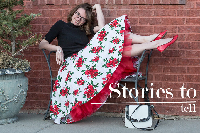 Hell bunny, circle skirt, red, roses, popbasic, wyoming, never fully dressed, withoutastyle,