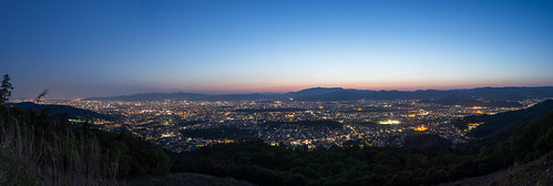 sky panorama mountain japan landscape twilight kyoto 日本 山 空 風景 夕焼け 2014 左京区 大文字山 パノラマ 京都市 京都府 大文字 nikond600