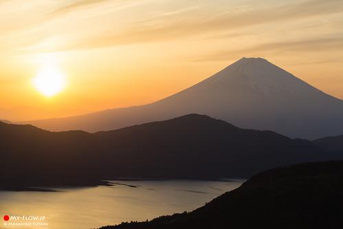 Mt. Fuji at Sunset glow