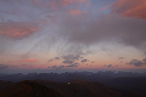 First light over Torridon from Sgurr Choinnich, 16th Oct '16