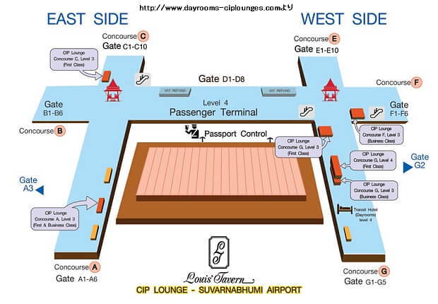 161030 スワンナプーム空港CIPラウンジマップ
