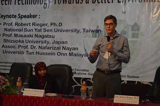 Prof. Robert Rieger, PhD, from National Sun Yat Sen University, Taiwan as keynote speaker of ICNERE and EECCIS 2016.