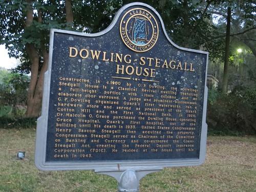 Dowling-Steagall House Marker Ozark AL