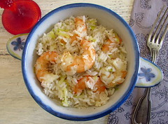 Rice with shrimp and leek | Food From Portugal