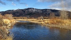 The Yampa River winds its way through Steamboat Springs. #mountains #river #colorado #autumn #nature