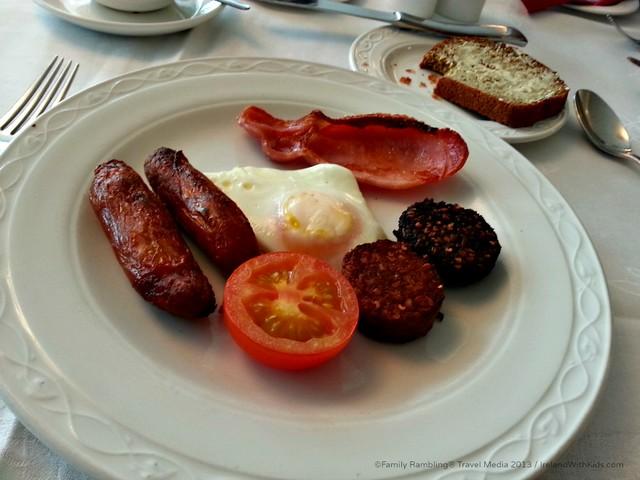 Irish Breakfast at Hotel Kilkenny, Kilkenny, Ireland