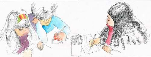 Aula das crianças no Curso do Dalton by Dalton de Luca