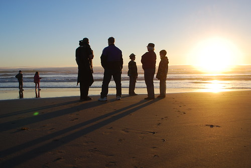 Sunset- Bandon, Oregon with the fam