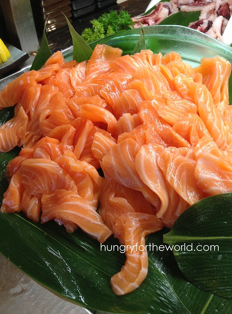 lovely salmon sashimi!