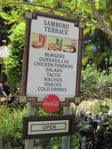 A concession stand menu at the San Diego Zoo Safari Park.  San Pasqual Valley California. (Near Escondido.)  June 2013. by Eddie from Chicago