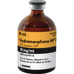 hydromorphone iv 20mg 50ml vial Sandoz