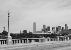 Corinth Street  Viaduct over Trinity River, Dallas, Texas 1306141033BW