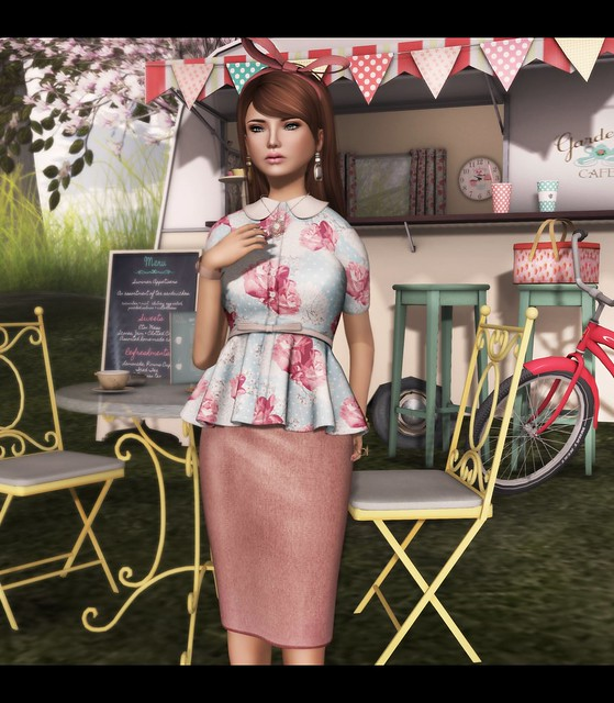 LDF - The Secret Store - Peplum Shirt - Delicacy (Close)