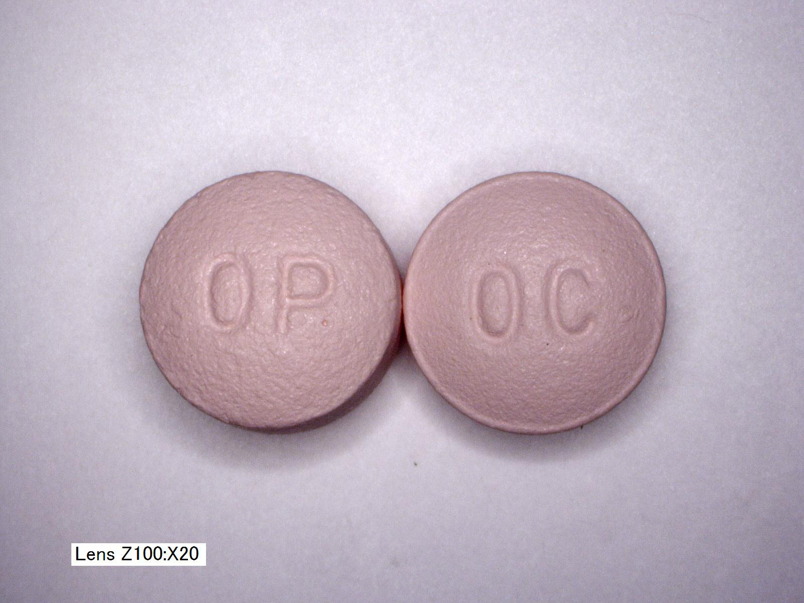 OxyContin OC vs OP 20mg front comparison