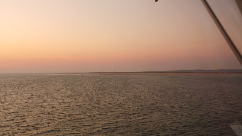 From the bridge, MS NAUTICA cruising the Gironde Estuary on way to Bilbao - Bordeaux/Le Verdon / l'Atlantique - 30 aout 2013