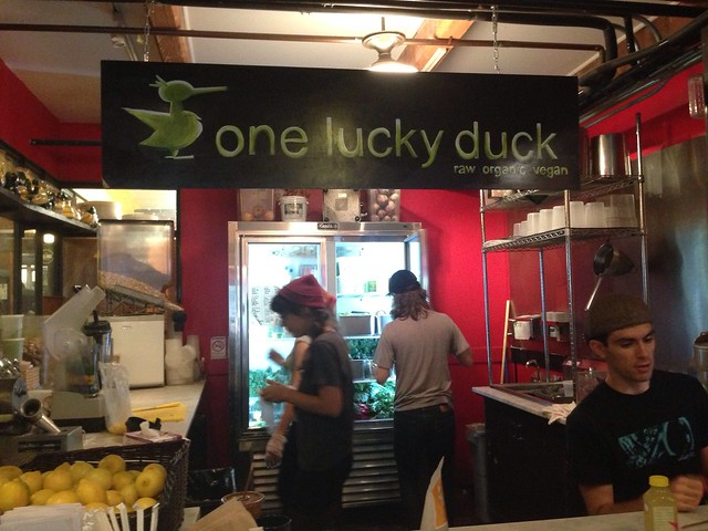 one lucky duck at the chelsea market