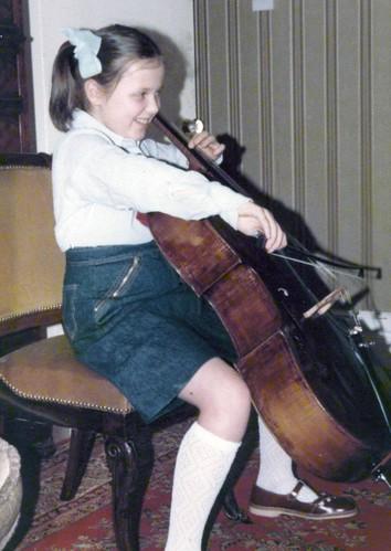 Corinne's new cello!
