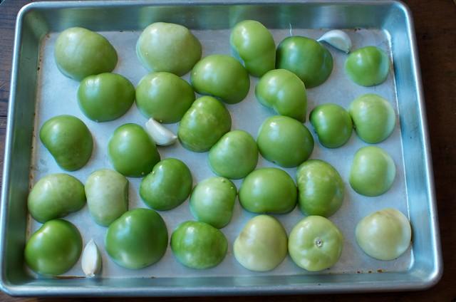 halved tomatillos